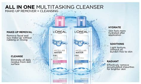 Harga L Oreal Blue loreal micellar water refreshing 250 ml spec dan daftar