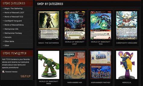 wow card template tcg centers has wow factor with custom ebay store design