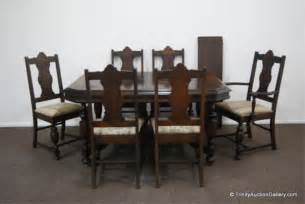 Antique Dining Room Furniture 1920 Antique C 1920 S Walnut Dining Table Chair Set