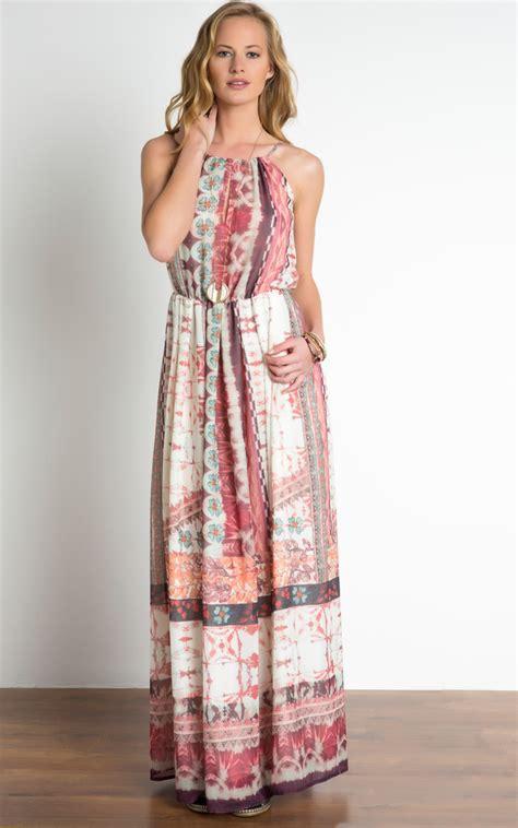 etnic maxy ethnic print maxi dress silkfred