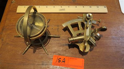 sextant compass brass compass and sextant