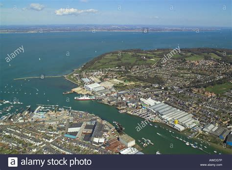 pier view cowes east cowes isle of wight river medina stock photos east