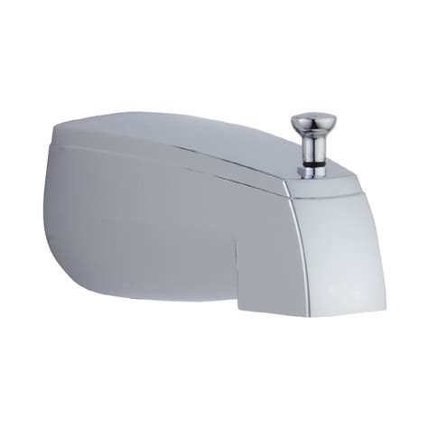 bathtub faucet spout shop delta chrome tub spout with diverter at lowes com
