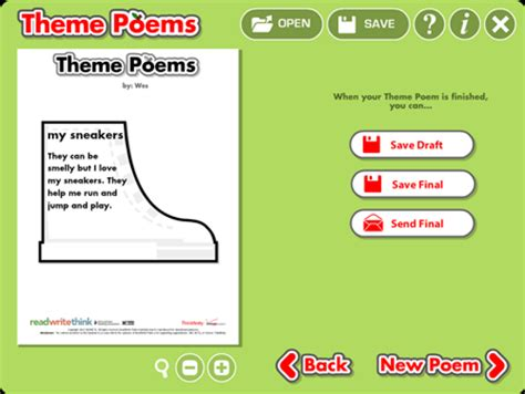 themes in english poetry theme poems readwritethink