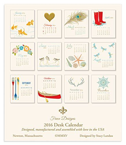 faux designs desk calendar faux designs gift calendar 2016 shells sporting goods