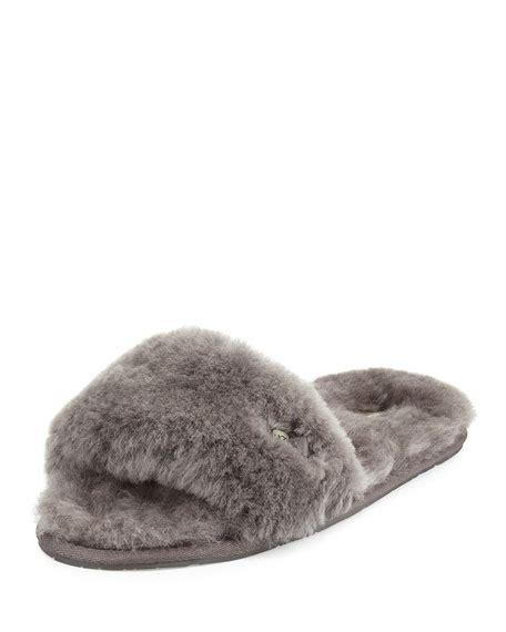 fluffy ugg slippers ugg scuffette shearling slide slipper