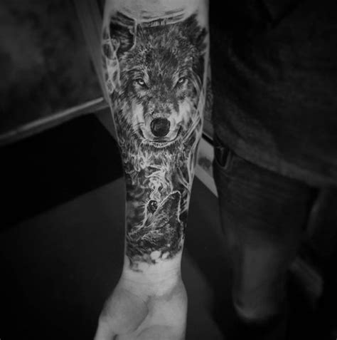 wolf tattoo forearm wolf forearm designs ideas and meaning tattoos