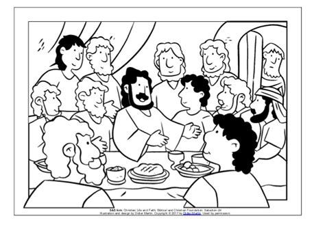 last supper coloring page coloring page meals with jesus the last supper