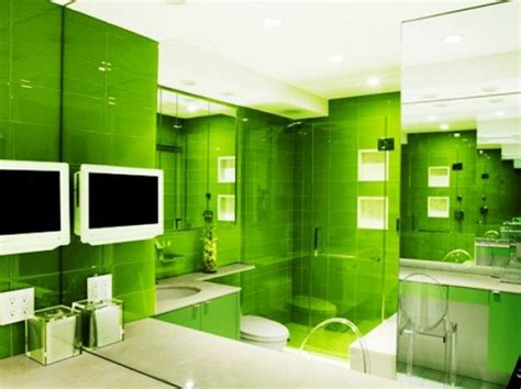 green themed bathroom green bathroom walls home interior and furniture ideas