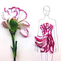 artist turns real flower petals into fashion design illustrations bored panda