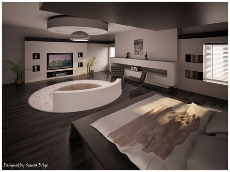 Bedroom Design With Jacuzzi | beautiful bedrooms