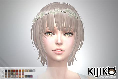 sims 4 short hair sims 4 hairs kijiko sims bob with straight bangs for her