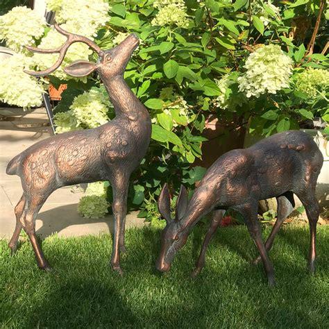 small metal deer garden statues pairbronze stag statues