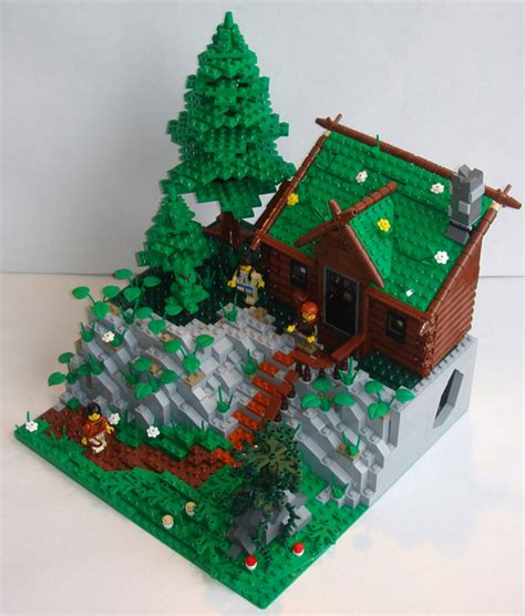 How Much To Build A Small Cabin moc rocky mountain log cabin lego historic themes