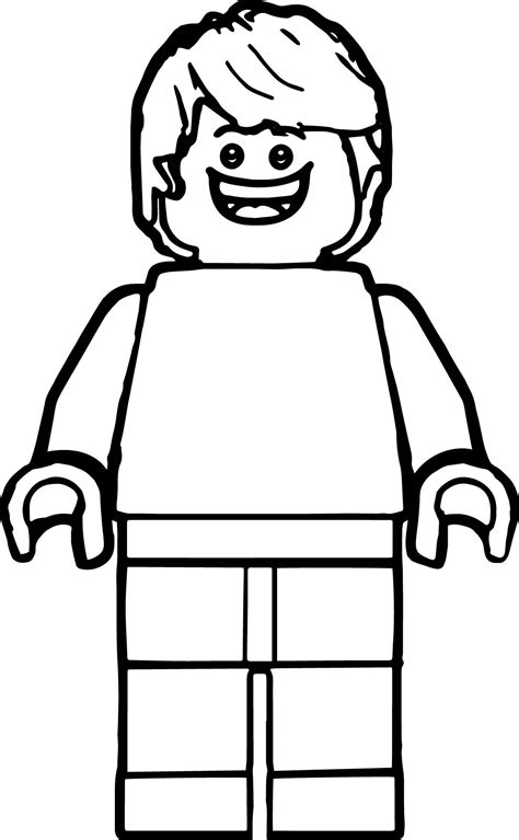 Coloring Pages Lego Minifigures Lego Minifigure Coloring Pages