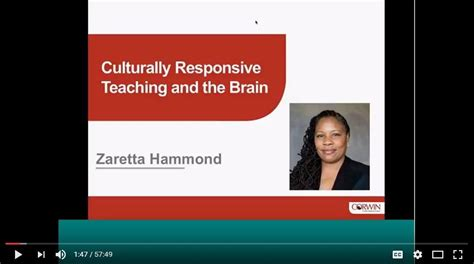 culturally responsive teaching and the brain promoting authentic engagement and rigor among culturally and linguistically diverse students culturally responsive teaching and the brain an