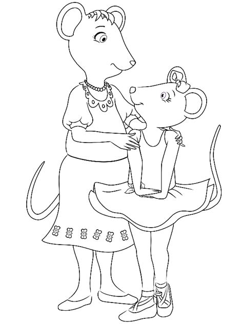 coloring pages of angelina ballerina ausmalbilder angelina ballerina imagui