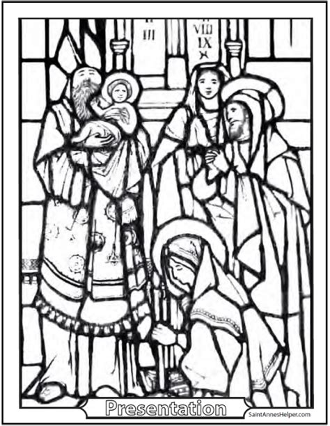 baby jesus presented at the temple coloring pages 40 rosary coloring pages the mysteries of the rosary