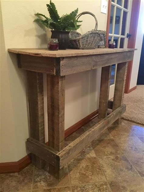 Diy Sofa Table Ideas by Diy Pallet Sofa Table Console Table 101 Pallets