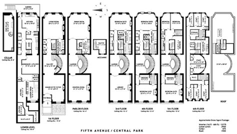 Railroad Style Apartment Floor Plan by The Stanford White Mansion On Fifth Ave Is On The Market