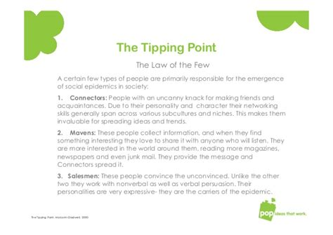 More On Monday The Tipping Point By Malcolm Gladwell by Tipping Point Social Trend Malcolm Gladwell