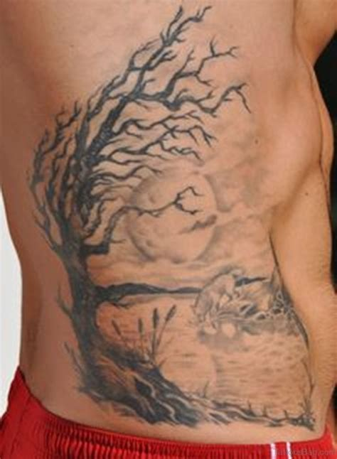 tree side tattoo 76 tree tattoos on rib
