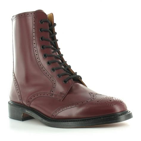 oxblood mens boots nps ls910 mens leather 9 eyelet traditional country brogue