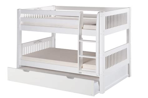low bunk bed with trundle camaflexi twin over twin low bunk bed with twin trundle