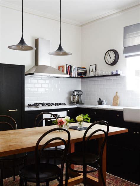 Attrayant Cuisine Bois Et Metal #2: cuisine-chic-noir-blanc-metro.jpg?1449241676