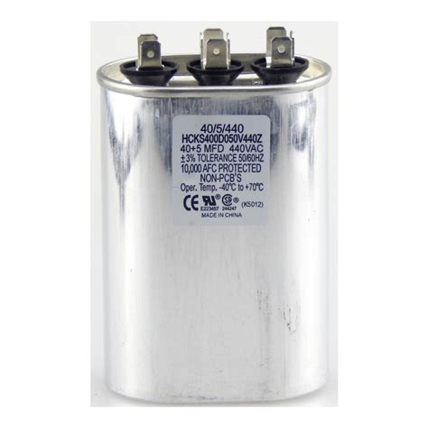 motor dual run capacitor tradepro 440 volt 30 5 mfd dual motor run oval capacitor tp405440 the home depot