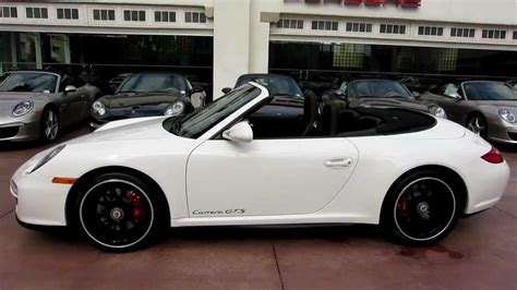 porsche convertible white 2011 porsche carrera gts cabriolet white with black full