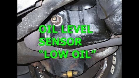 oil level sensor  oil light repair replace gm chevy