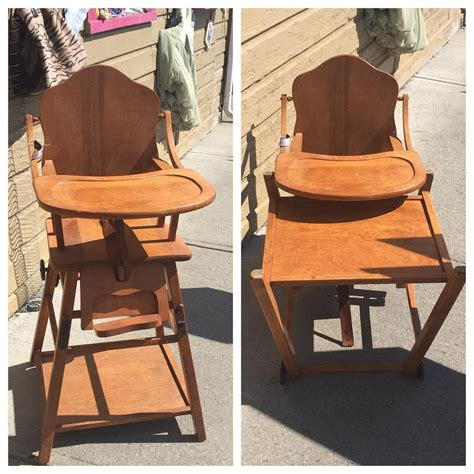 Vintage Convertible High Chair by Antique Wood Convertible High Chair To Desk 95 00