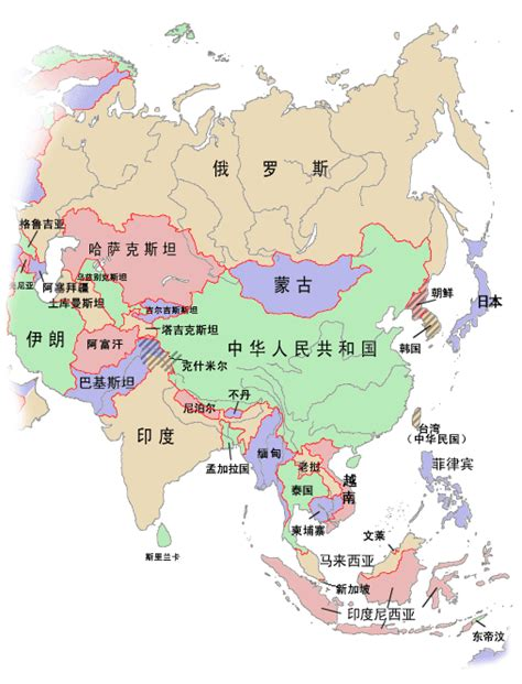 asia map only asia political map size
