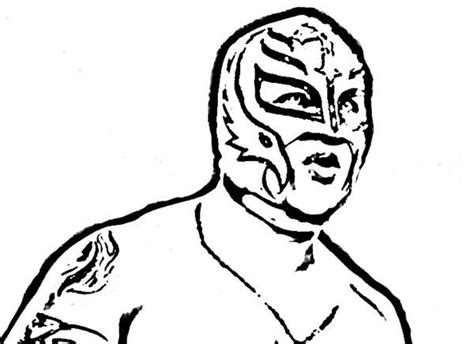 rey mysterio coloring pages sketch coloring page