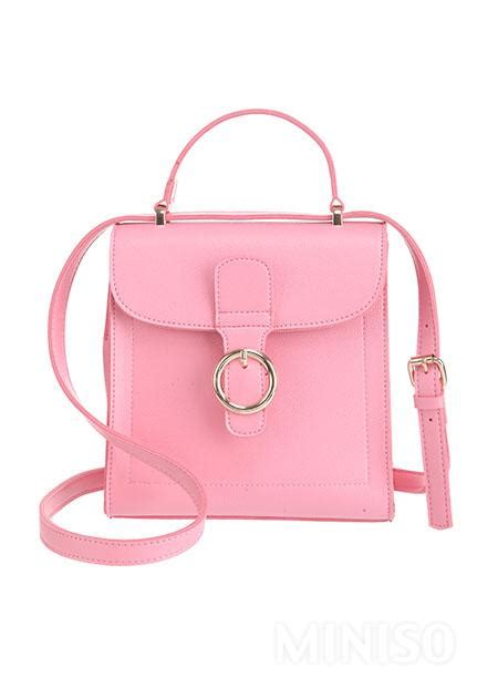 Solid Color Fashionable Shoulder by Solid Color Fashionable Shoulder Bag Pink Miniso Australia