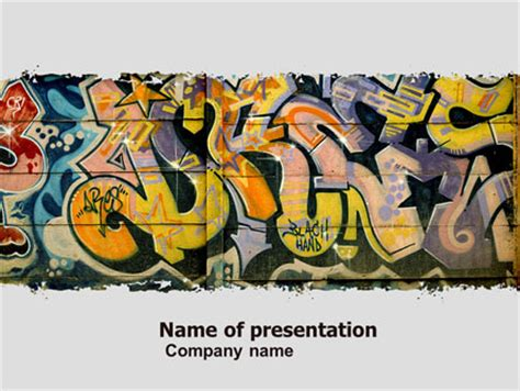 graffiti wall template graffiti on the wall presentation template for powerpoint
