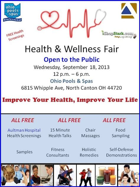 health fair flyer templates free health wellness fair free health screenings in canton ohio i shop blogz