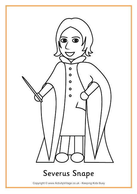 harry potter coloring pages snape severus snape colouring page