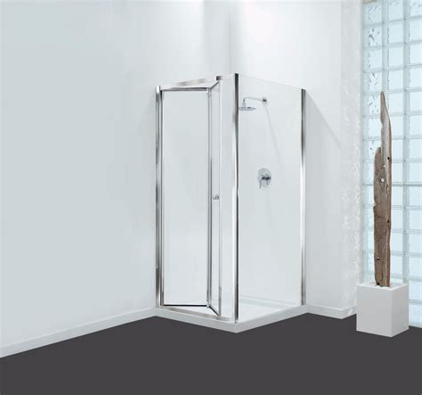 Reduced Height Shower Door 1800mm Reduced Height Bi Fold Shower Door With Optional Side Panel Chrome Frame Ebay