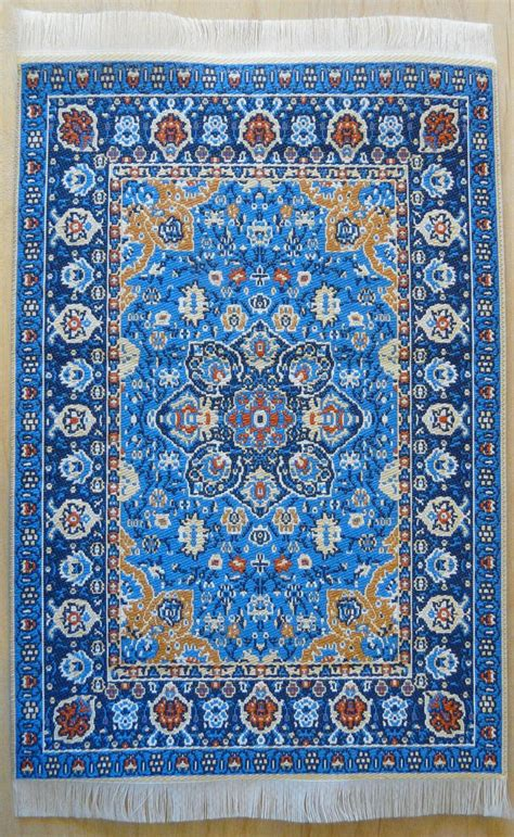 blue turkish rug w influence in design