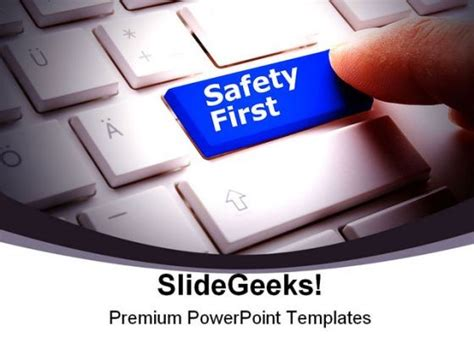 Health And Safety Powerpoint Templates by Safety Computer Powerpoint Backgrounds And Templates