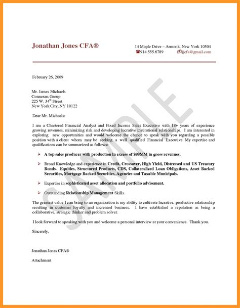 business format cover letter business analyst cover letter sle bio letter format