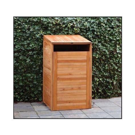 abri cache poubelle simple en bois dur epaisseur 18mm