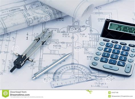 a house plan stock photo image of ground draftsman