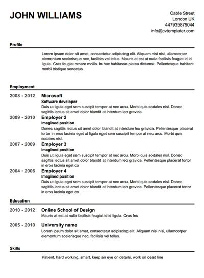 Resume Creator Free Resume Creator Best Template Collection