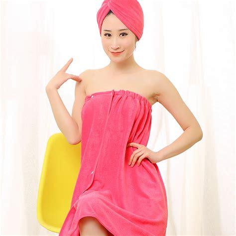 Hair Towel 1 Pc newbath towel set 70x140cm 1pc bathrobe 1pc hair