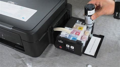 Cartridge Printer Epson L210 Epson L210 02 Refill A Printer S Ink Cartridge On Vimeo