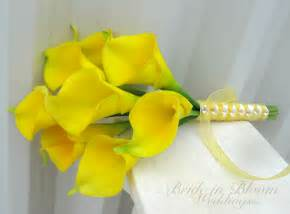 Yellow Calla Lily Yellow Calla Lily Wedding Bouquet Bride In Bloom
