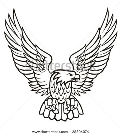 traditional eagle tattoo vector harley davidson eagle vector images eagle vector